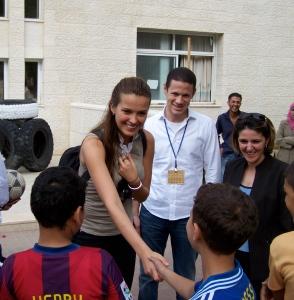 Petra meets soceer boys