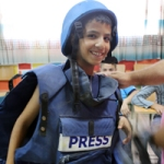 Mohammed dressing up as a journalist